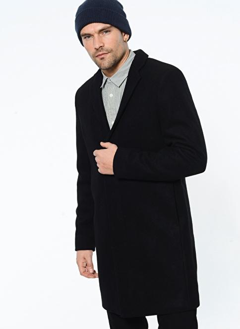 Selected Yün Palto Siyah